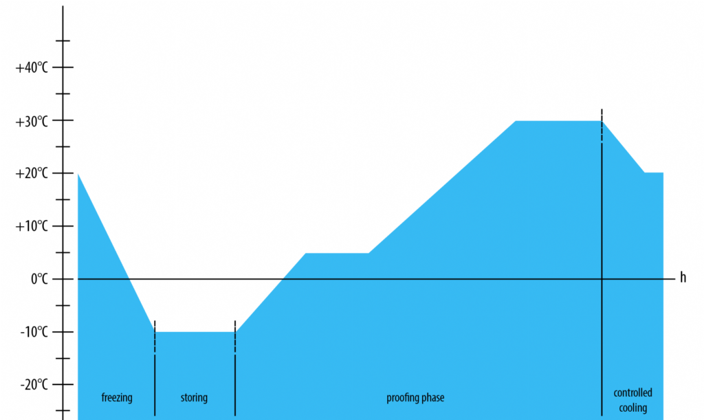 grafico di funzionamento fermalievitazione