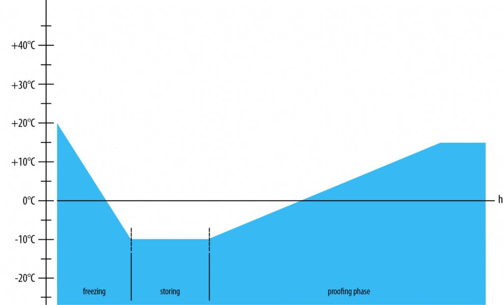 grafico di funzionamento fermalievitazione con lievitazione naturale