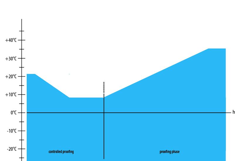 grafico di lievitazione controllata