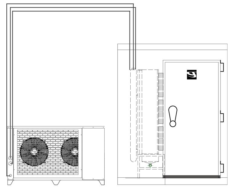 schema impianto di abbattimento e surgelazione rapida