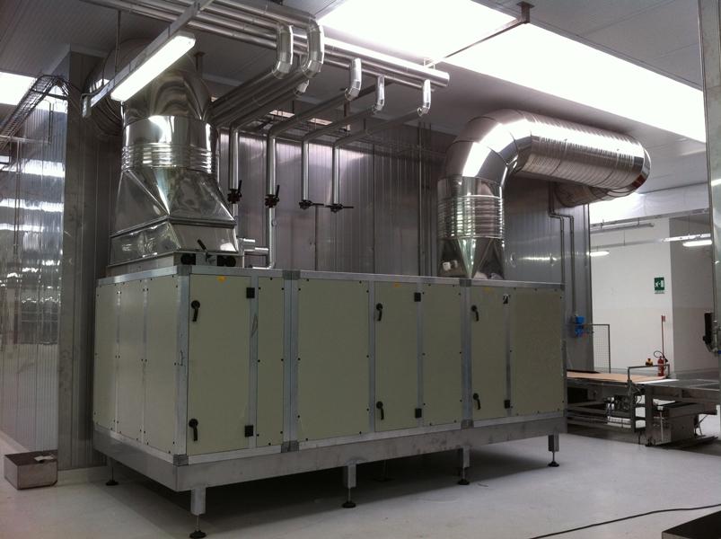 unità trattamento aria installata